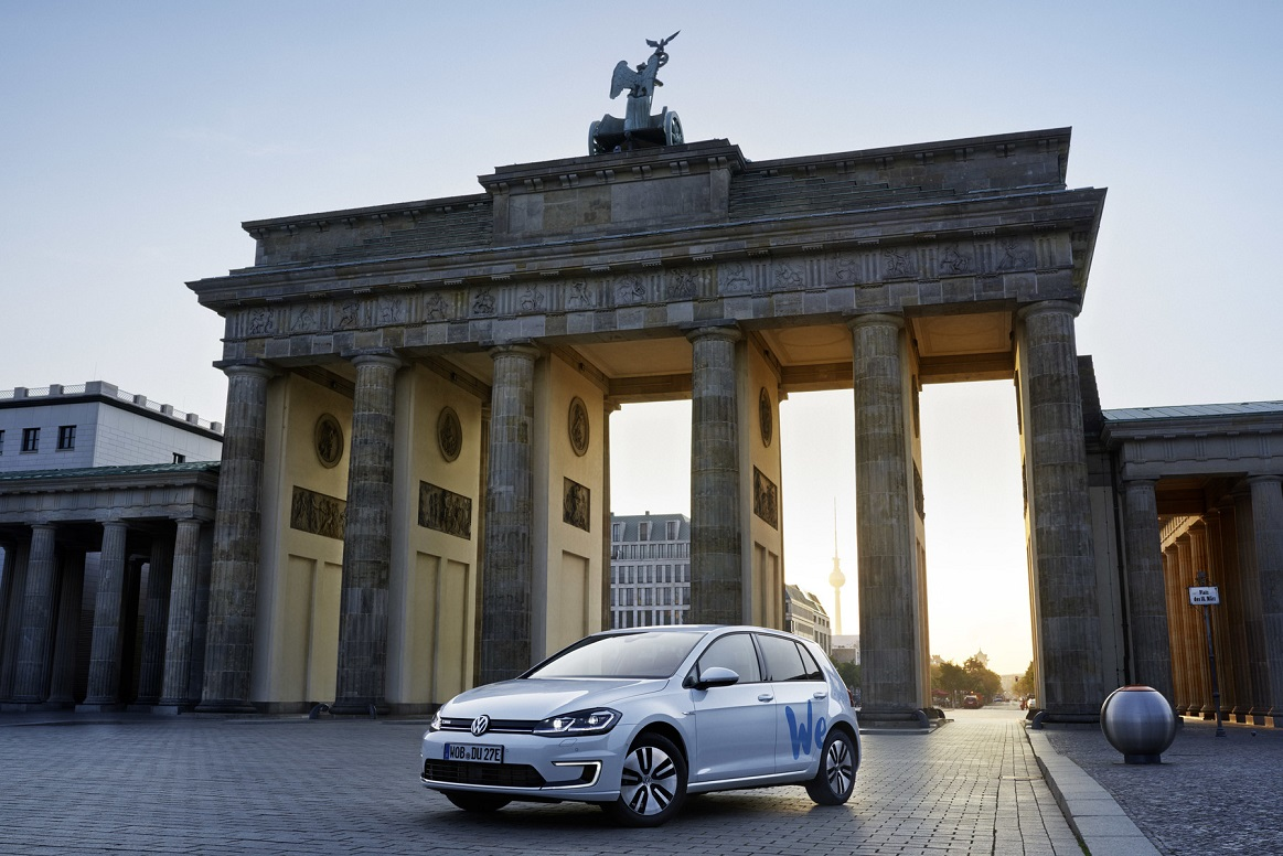 """Volkswagen starts """"We Share"""" e-mobility car sharing in Berlin"""