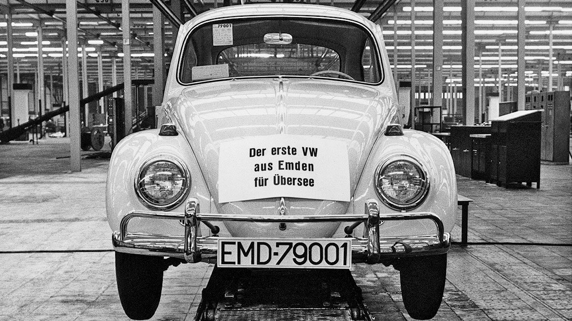 The First Beetle From Emden For Overseas Export