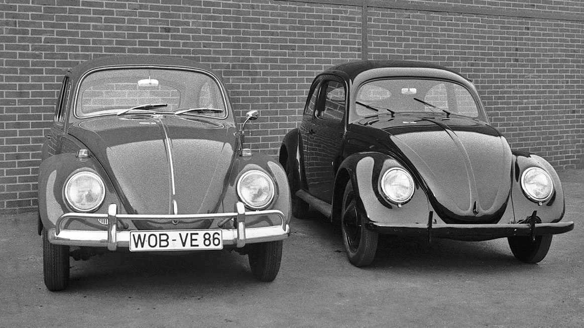 1948 Beetle Meets Its 1968 Counterpart